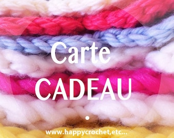 "15 euros Gift certificate for ""Happy Crochet, Etc…"" shop"