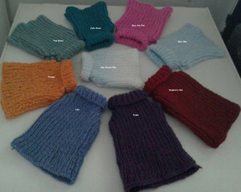 Dog Clothes - Hand Knit Dog Sweater - Dog Jumper