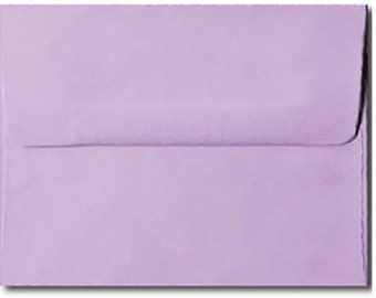 20 Pastel Purple Envelopes in A7, A6, A2 & A1 Sizes - A6 SIZE ON SALE