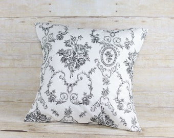 Black and white or red and white pillow cover