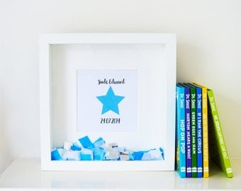 Personalised 'Little Star' Confetti Frame