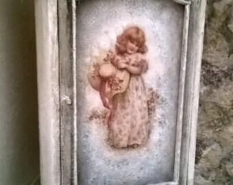 Miniature dollhouse WARDRODE Shabby Chic Style-closet style Shabby