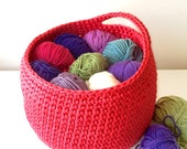 Hanging storage basket crochet basket nursery storage toy tidy bathroom organiser custom colour