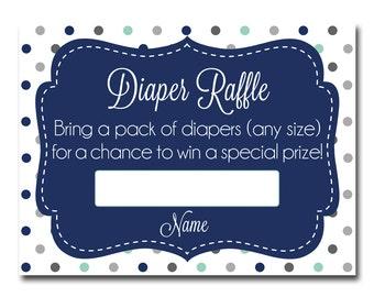 Diaper Raffle Ticket, Instant Download, Baby Shower Game Printable, Baby Shower, Diaper Raffle, Baby Shower Printable, BABY4