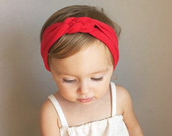 Sailor Knot Headband in RED Baby/Toddler Sailor Knot