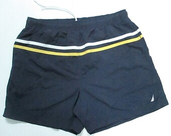 NAUTICA Black Men's Board Surf Shorts swimming pant size L