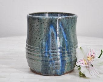 Pottery Utensil Holder, Utensil Holder, Wheel Thrown Pottery, Handmade, Pottery, Utensil Crock, Pottery Handmade, Ready to Ship