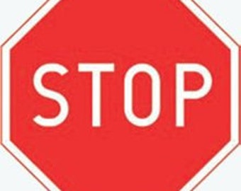 road sign, stop