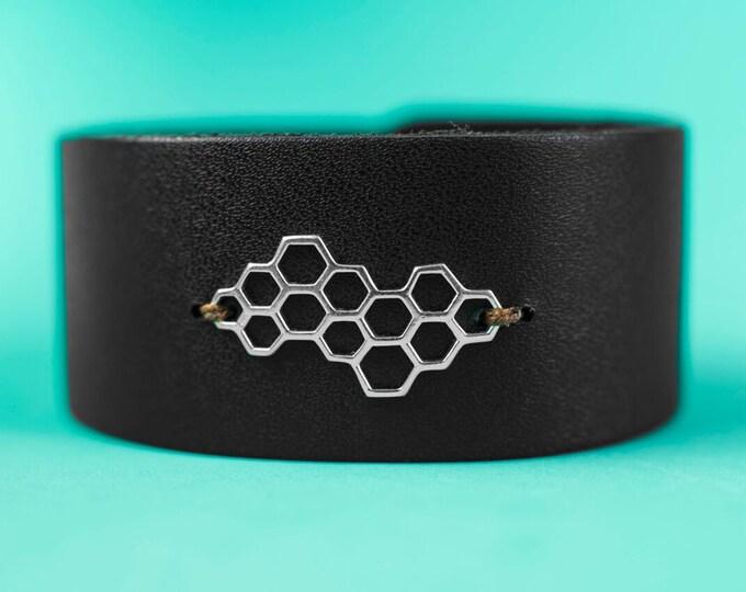 Hive Leather Cuff