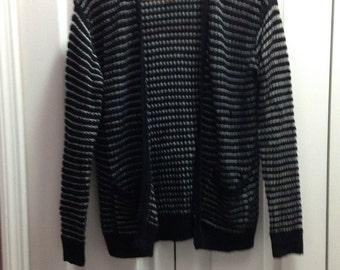 B&W Striped Knit Sweater