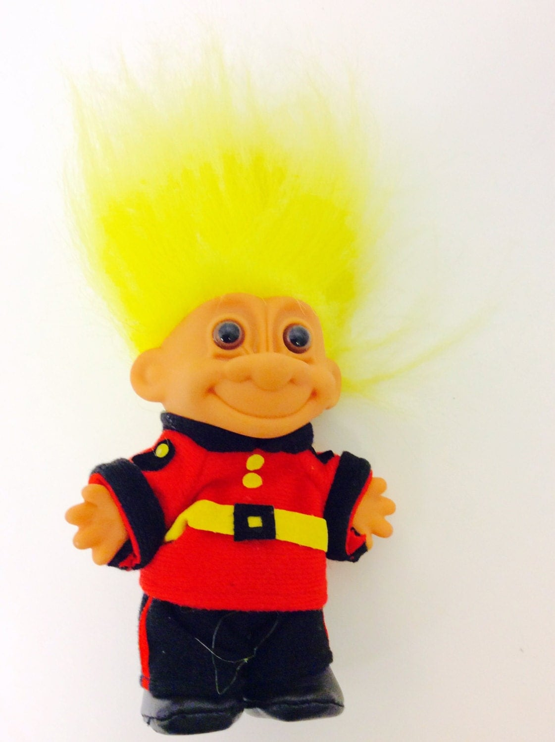 Vintage Russian Troll Doll by Russ Yellow Hair Troll with