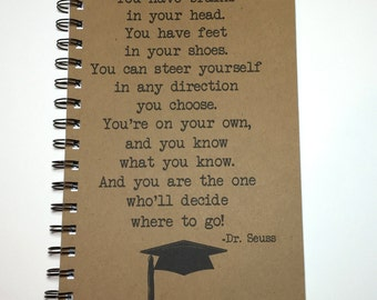 Dr. Seuss Quote, Graduation Gift, Gift, Personalized, Graduation, Daughter, Son, Graduate, Dr Seuss, Class of 2016, You're on your own