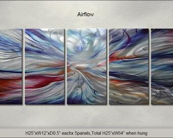 "Original Special Metal Wall Art Painting Sculpture Indoor Outdoor Decor Direct From Artist ""Airflow"""
