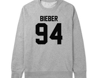 Bieber 94 - For fangirl & fanboy - Gray/White Unisex Sweater - SWEATER-120
