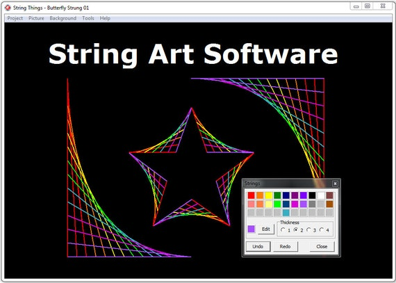 String art computer program instant by stringthingsprogram Computer art software
