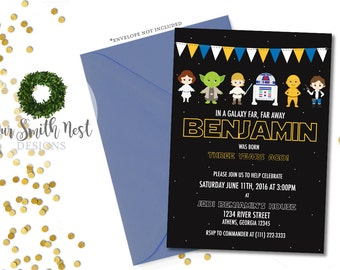 Star Wars Birthday Invitation DIY PRINTABLE Customizable Digital Prints