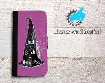Hocus Pocus iPhone Case, iPhone book case, iPhone card holder, iPhone book case, Phone case for mom, Can add initials, name or change color!
