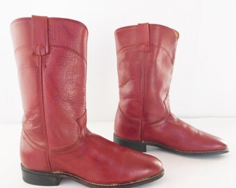 roper red women boots size 7.5