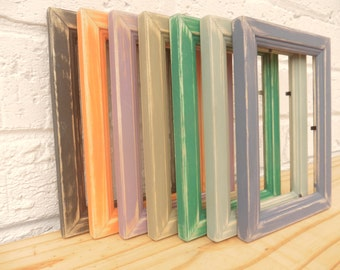 Vintage Photo/Picture Frames Distressed Shabby Chic Retro Choice of 7 Colours Choice of 3 Sizes Vintage Colours Weddings Gifts Hand Painted