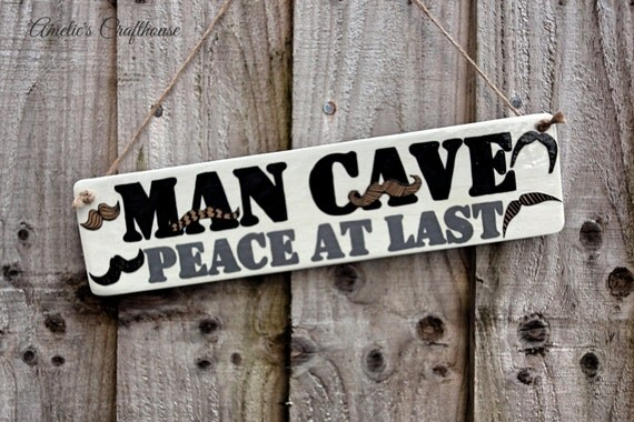 Man Cave Gifts For Him : Man cave sign gift for him shed by ameliescrafthouse