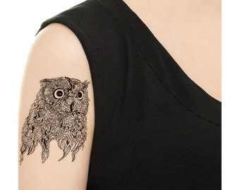 Temporary Tattoo - Owl