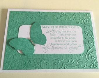 Butterfly poem card - blank inside