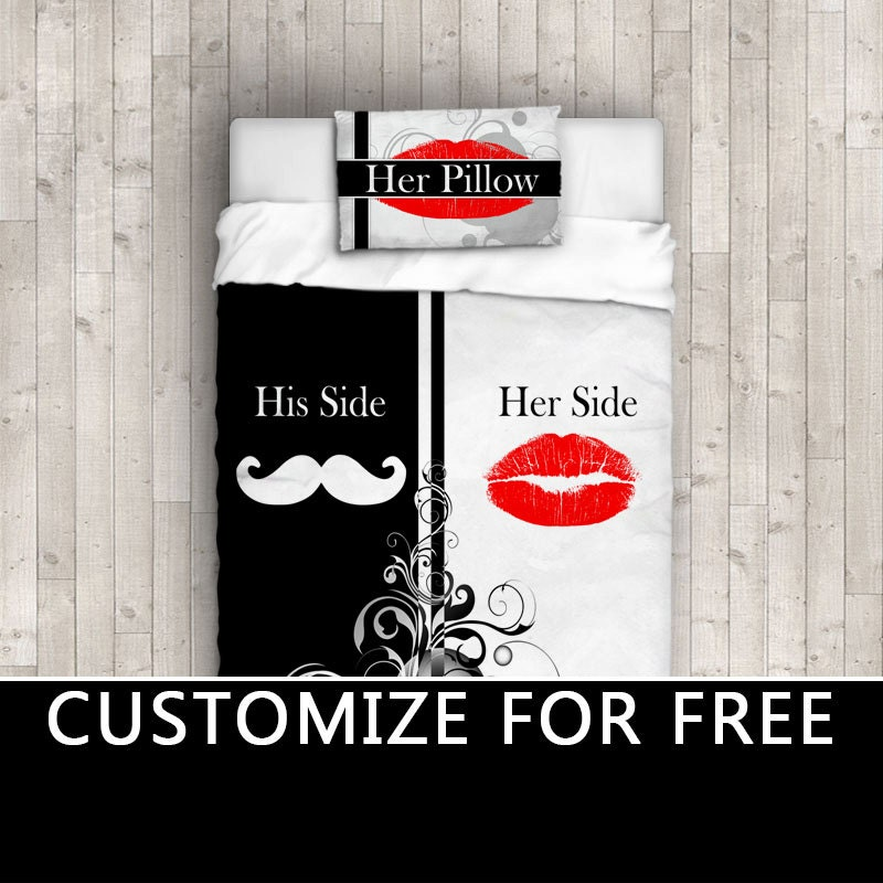 Hipster His Side Her Side Dorm Bedding His Hers Comforter