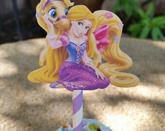 Rapunzel pets cupcake toppers, rapunzel birthday party