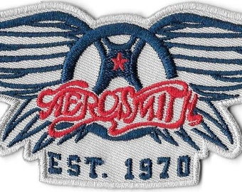 Aerosmith Est. 1970 Embroidered Patch /  Iron On Applique Hard Rock