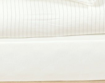 Ivory Fitted sheet Queen or king sheet Set Organic Cotton bedding Luxury Bedding Set