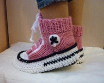articles uniques correspondant knitted converse etsy. Black Bedroom Furniture Sets. Home Design Ideas