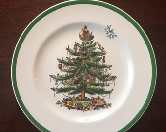 SALE   Three Spode Copeland Christmas Tree  original english production from the 1940's  perfect  set of 3