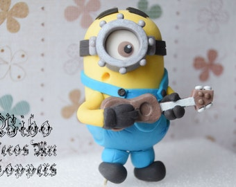 Edible 3D Minion Fondant Cake Topper , Birthday Cake Topper , Minion Lover Cake Topper