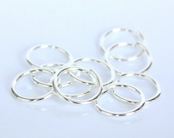 100pcs--Jumprings, Silver Tone, 12mm (B38-2)