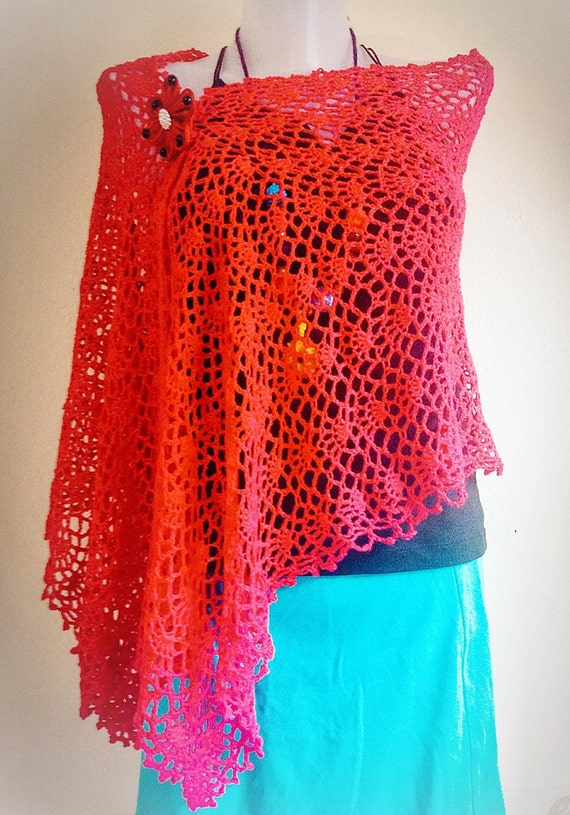 Crochet Pattern Easy Wrap Lace tutorial, Shawl Spring