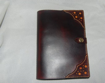 leather journal cover. A5 100% leather