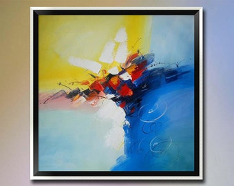 Original modern abstract oil painting on canvas-Hand painted Palette knife paintings