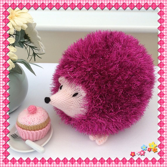 Stuffed Hedgehog Knitting Pattern : Knitted Hedgehog plushie toy / knitted toys / soft toy / cute