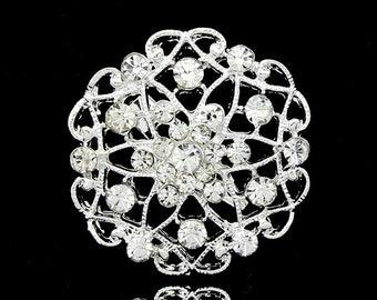 10 pcs Bridal Invitations Crystal Rhinestone,Wedding Brooch Bouquet Cake Decoration Hair Comb Shoe Clip Jewelry DIY Supply Ab026