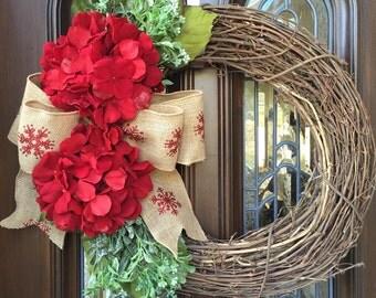 Christmas grape vine wreath