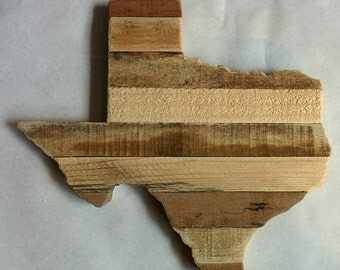 Texas - Reclaimed Wood Cutout