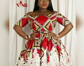 African  clothing  NEW MITCHELLE O dress handmade from authentic super wax print.african printsankara fabricdresses