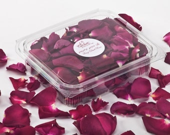 Rose petals. Freeze dried petals. lovely for decoration. 1 Liter box (5 cups) fragrant petals.