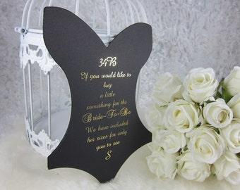 Corset Bachelorette Party, Bridal Shower Insert, Lingerie Shower Insert, Lingerie Size Insert, Corset Insert, Bra and Panty Card