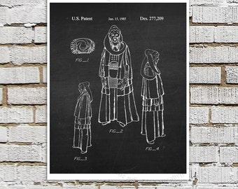 Star Wars print #20  Bib Fortuna Patent Poster, Star Wars Decor, Star Wars Boys Room Decor,  Star Wars Gift for Kids, Sci-Fi decor