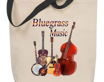 Bluegrass Music Tote Bag