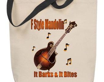 F Style Mandolin - It Barks & It Bites Tote Bag