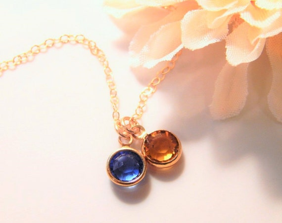 birthstone necklace mothers day gift by
