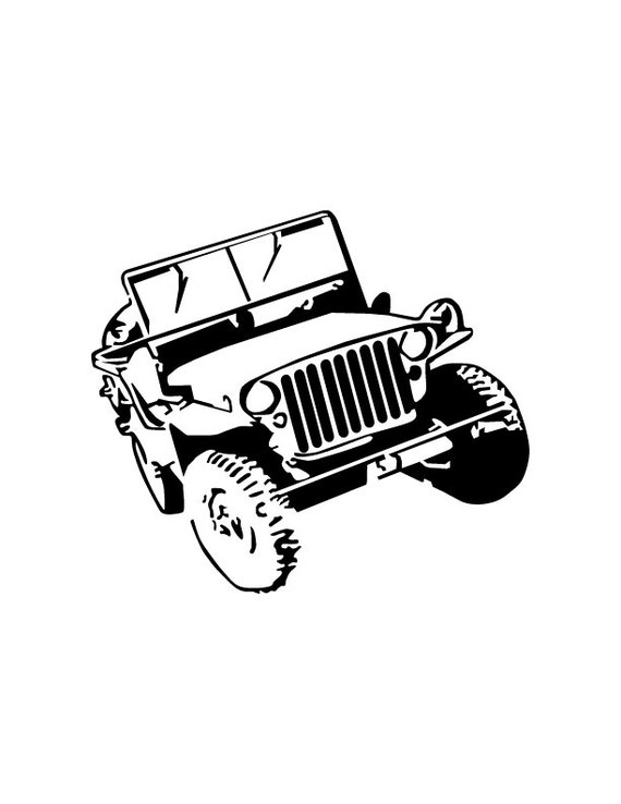 Willys Vinyl Decal Jeep Wrangler FREE by SidewinderGrafix ...