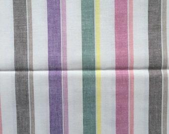 Pair of Vintage Cotton Candy Stripe Sheets unused 200cm x 250cm